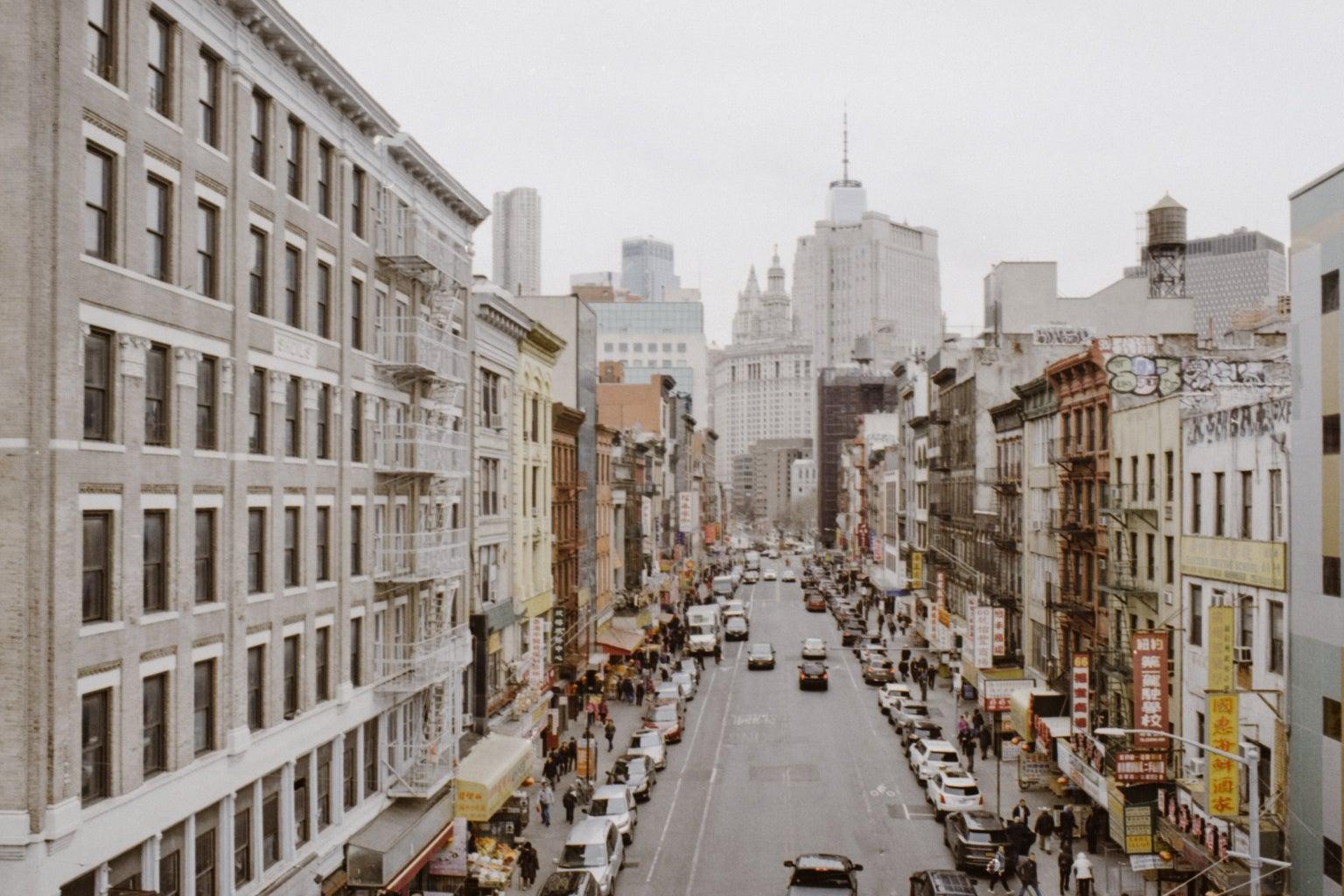 city buildings film photography