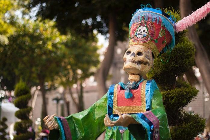 Día de los muertos decorative skeleton