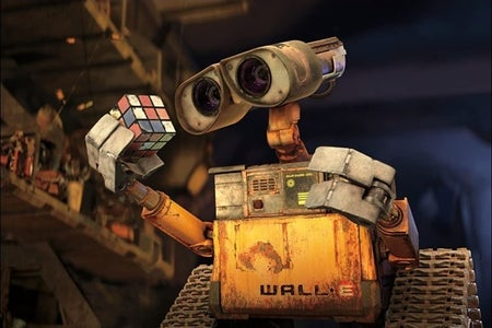 A robot playing with a Rubik's cube