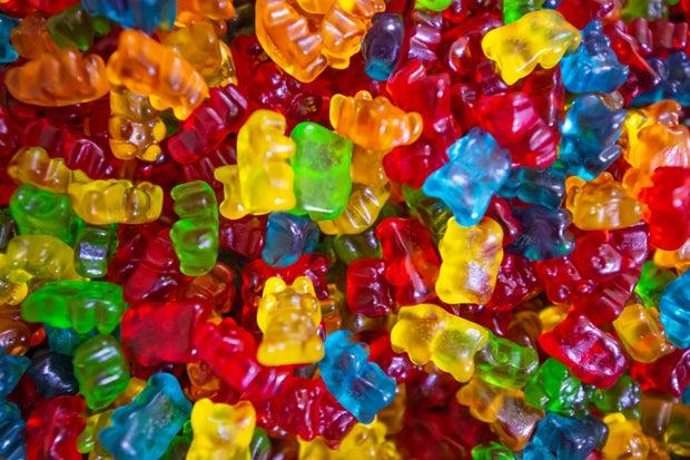 multi colored gummy bears