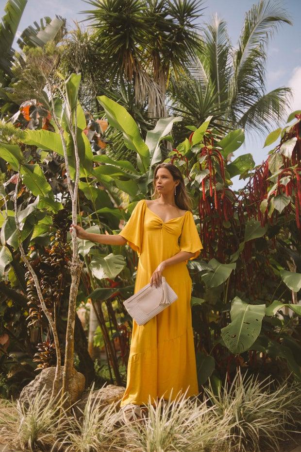 Women in yellow dress