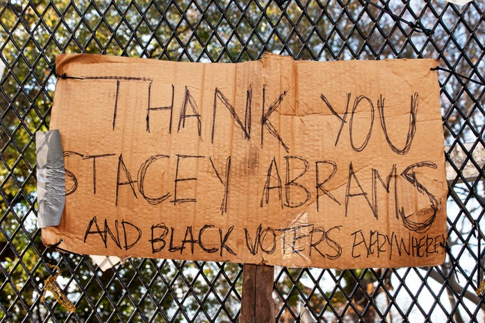 Thank you Stacey Abrams and Black voters sign