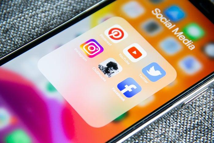 social media iPhone photo