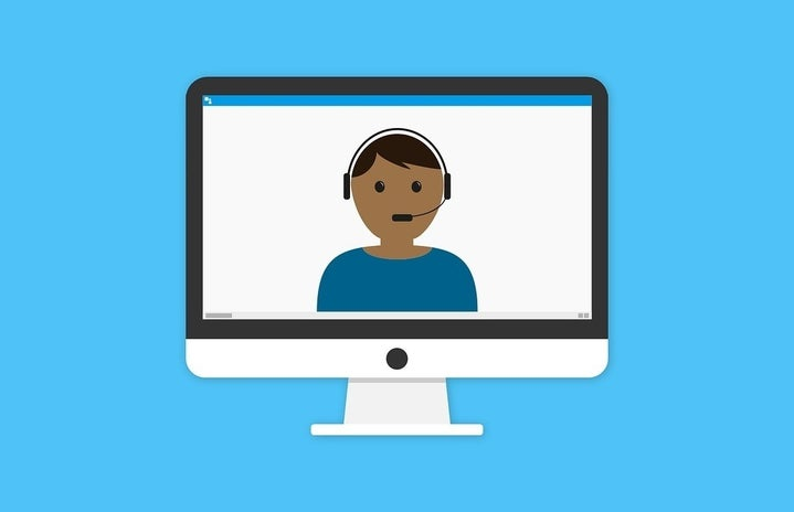 clipart of a Zoom call