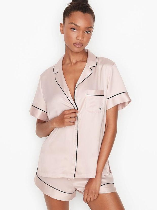 woman wearing pajama set
