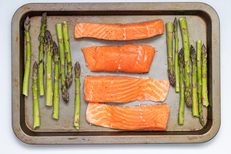 salmon and asparagus sheet pan dinner