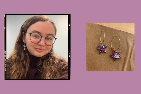 Handmade earring creator with small business