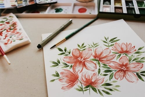 painting of flowers for the spring