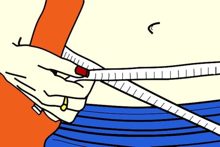 illustration of measuring waist