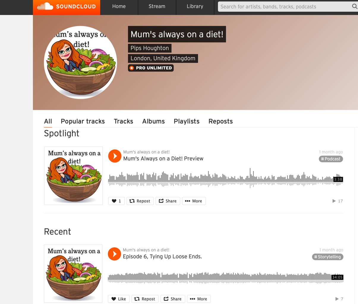 Screenshot of Mums always on diet dissertation podcast