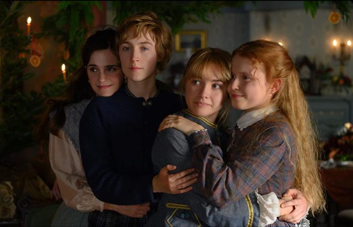 little women hugging