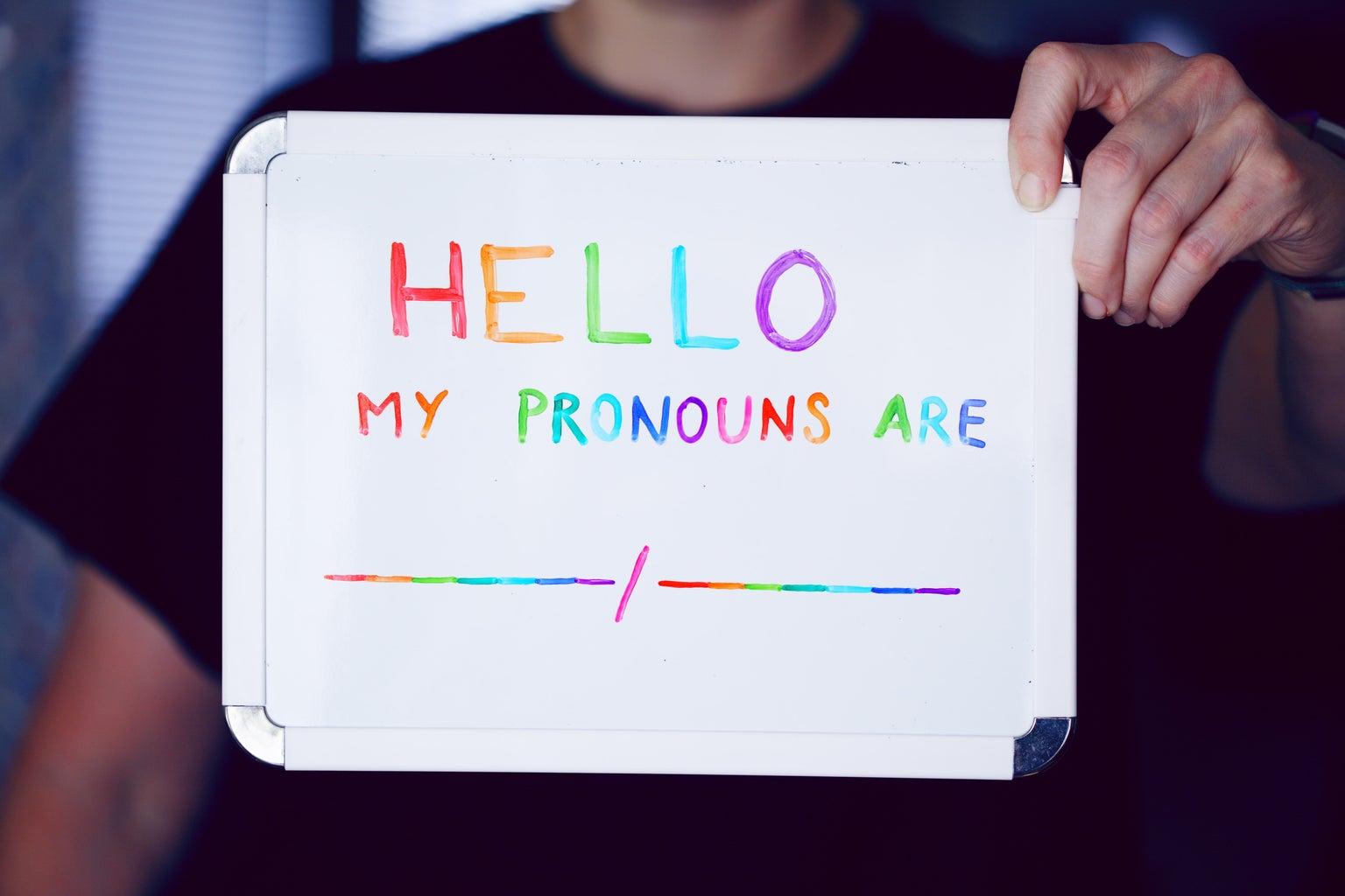 My Pronouns Are Whiteboard
