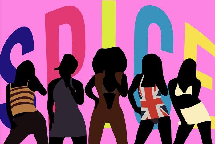 Spice Girls silhouette graphic (Brit Awards '94)
