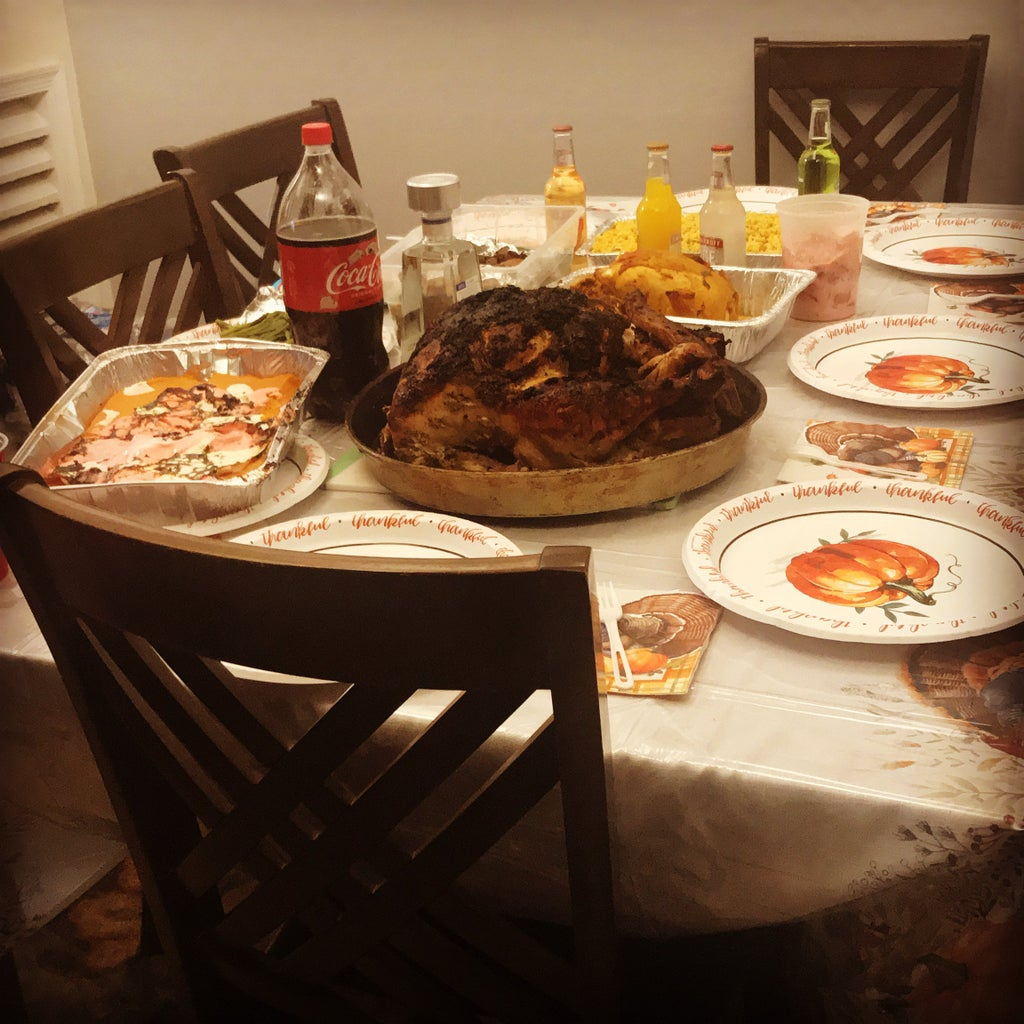 Umanzor's Thanksgiving table