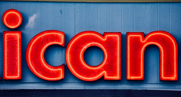 """""""I can"""" neon sign"""