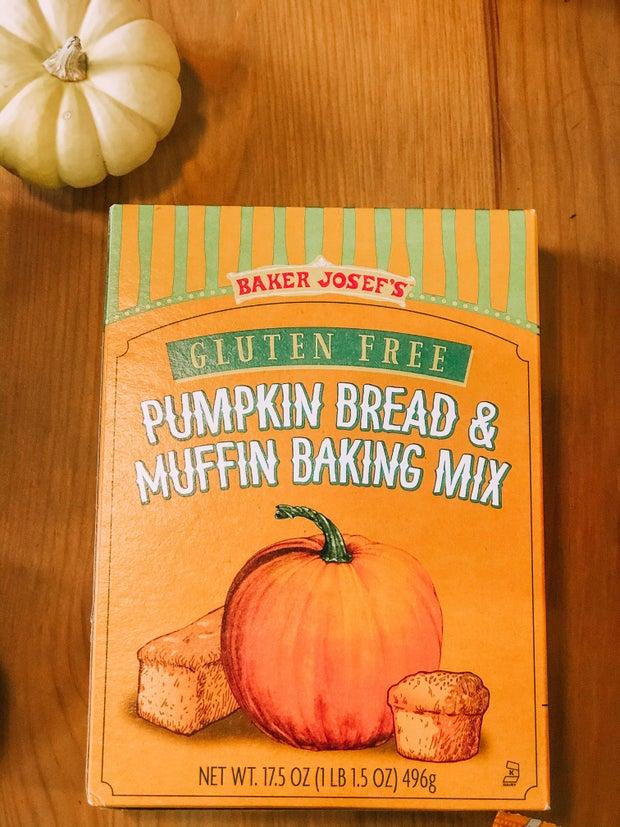 A picture of gluten free pumpkin bread mix