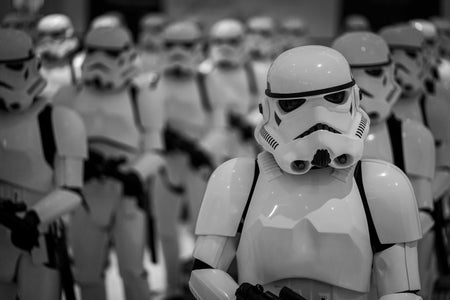 Storm Troopers in formation