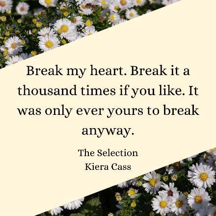 Quote from book with background of white flowers