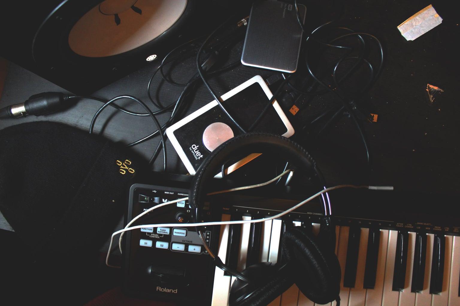 music producer setup