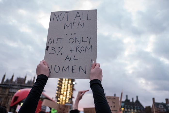 3% of Women Protest Sign