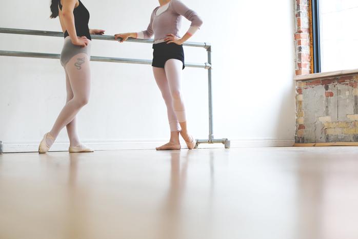 ballet dancers in studio