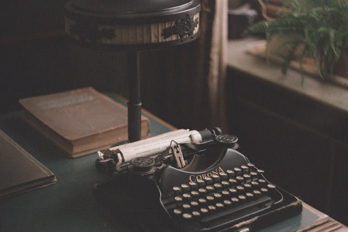 black typewriter dark academia