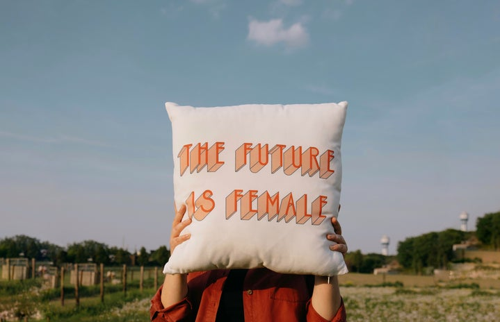 Future is female pillow