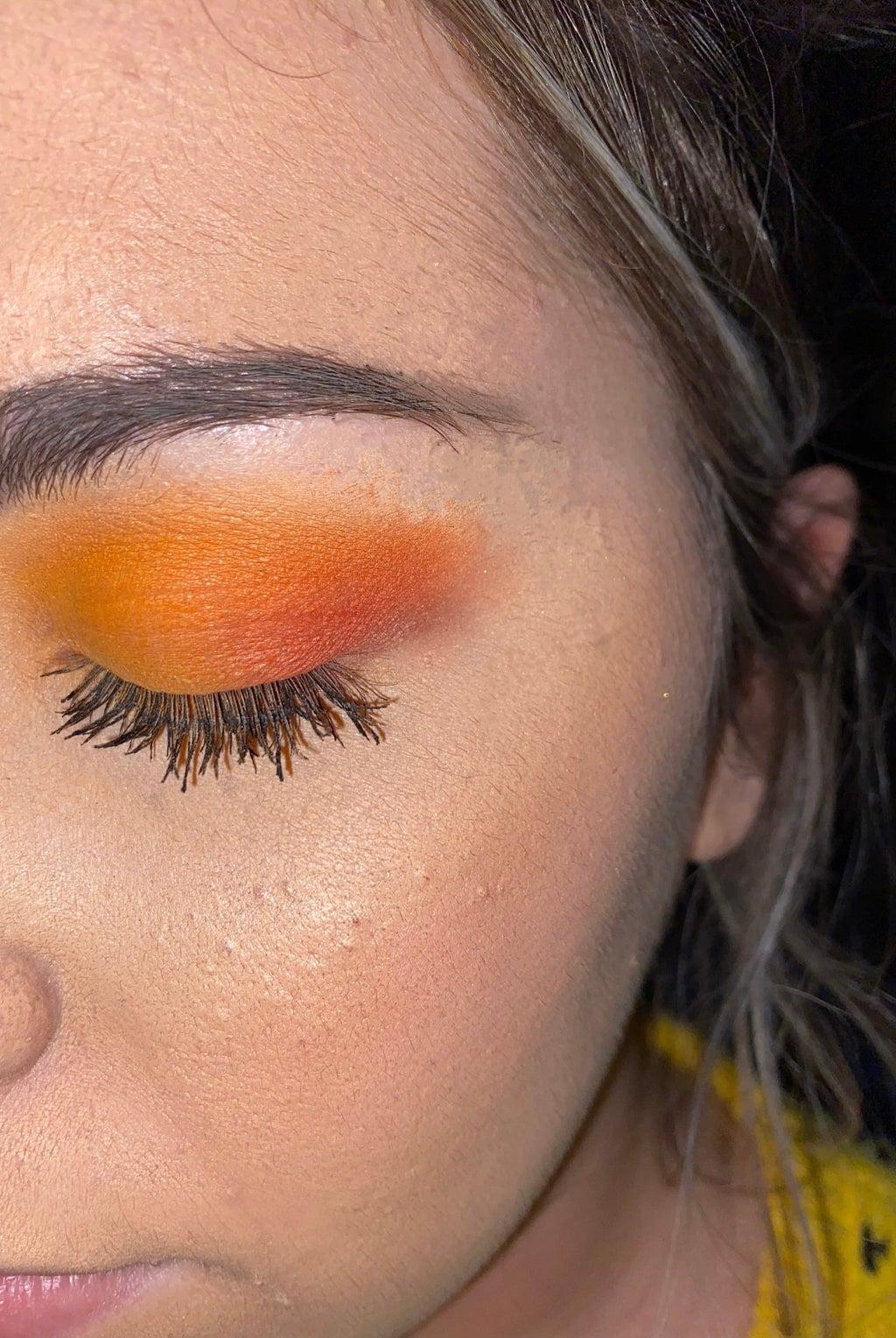 orange fall makeup look