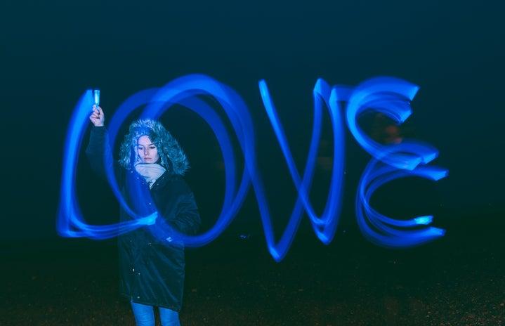 Long Exposure Love in Blue