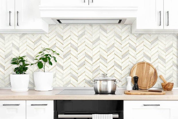 Chevron wallpaper from Say Home Decor