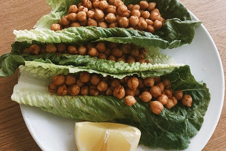 Chickpea lettuce wraps