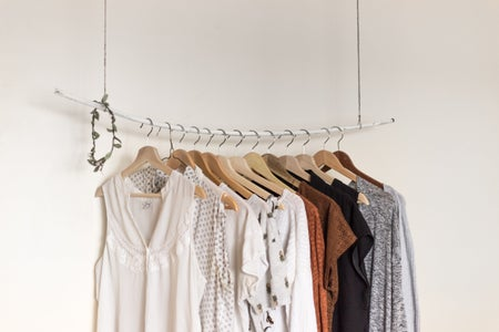 clothes hanging on wire