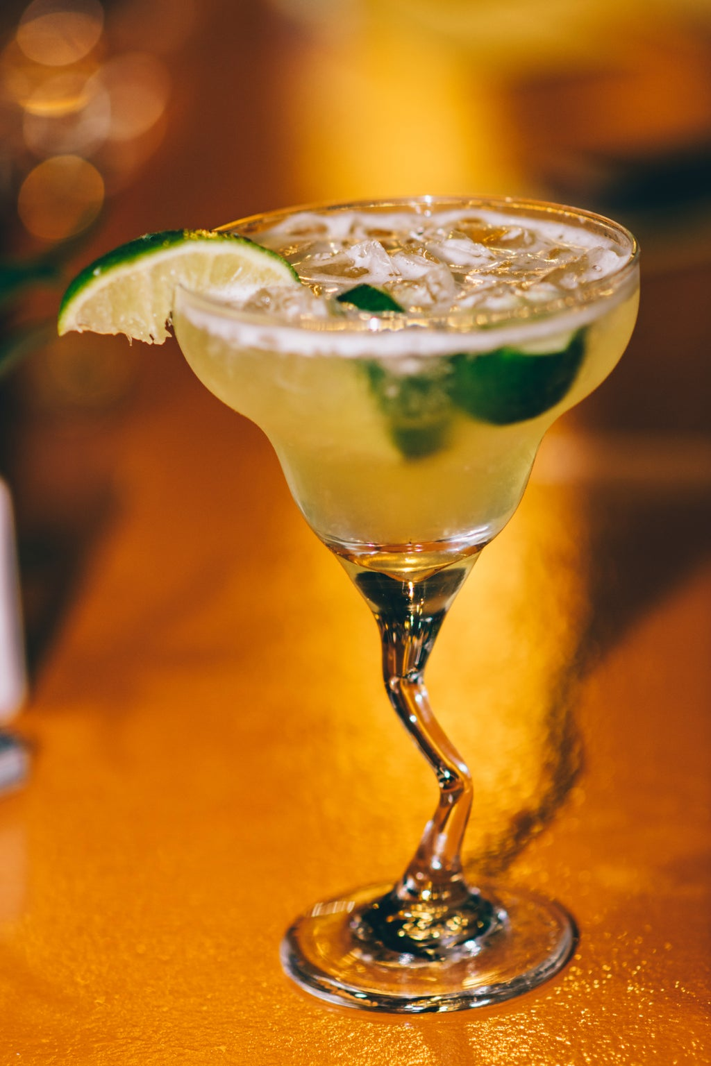 A glass of margarita cocktail