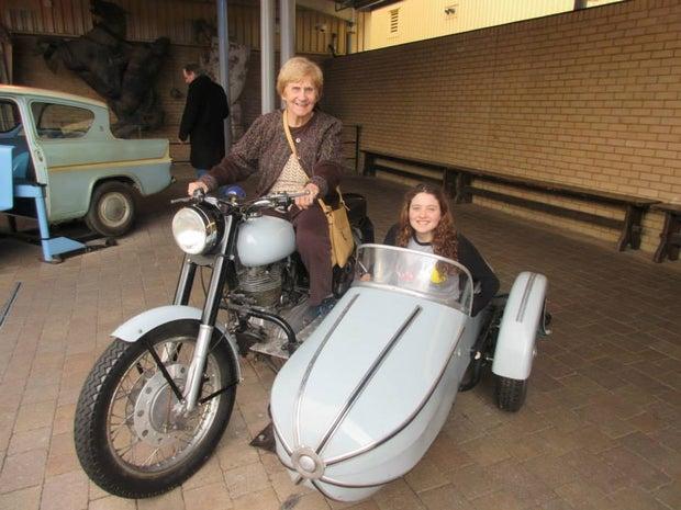 Me and my Grandma on Hagrid's Bike