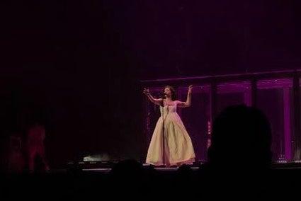 Photo of singer Lorde onstage