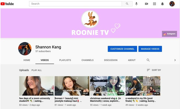 Shannon Kang's YouTube Channel