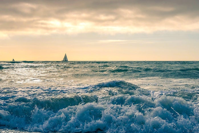 Waves and Boat