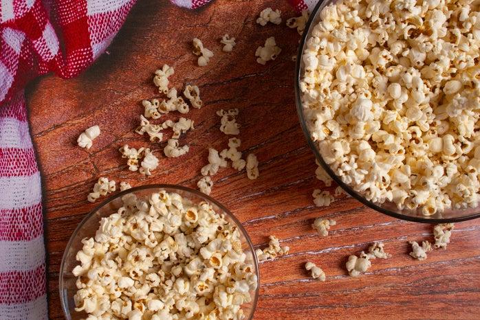 Popcorn scattered