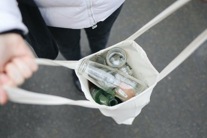 glass bottles in Reusable bag