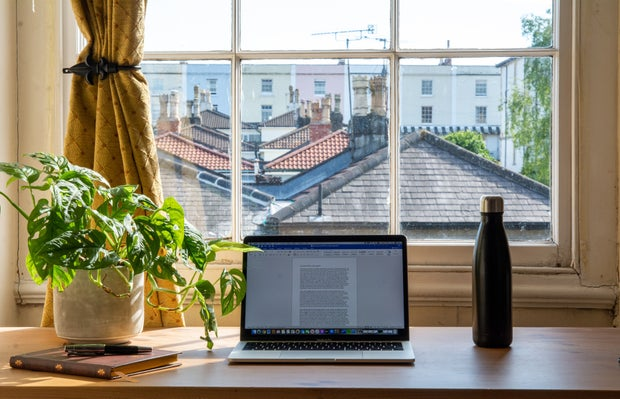 Bristol working from home scene