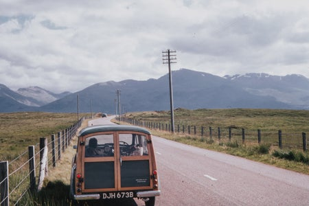 van driving travel film