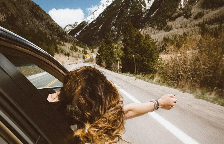 girl on roadtrip