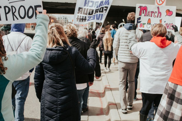 """""""March for our lives"""" protest for gun control"""