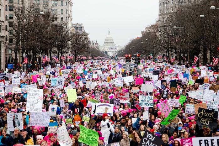 women\'s march at washington dc