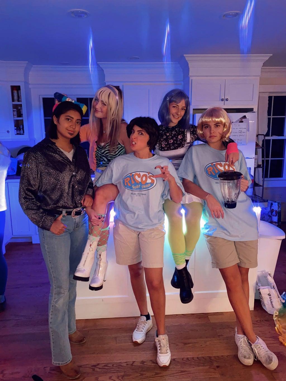 Friends re-enacting Hannah Montana Cast for Halloween.