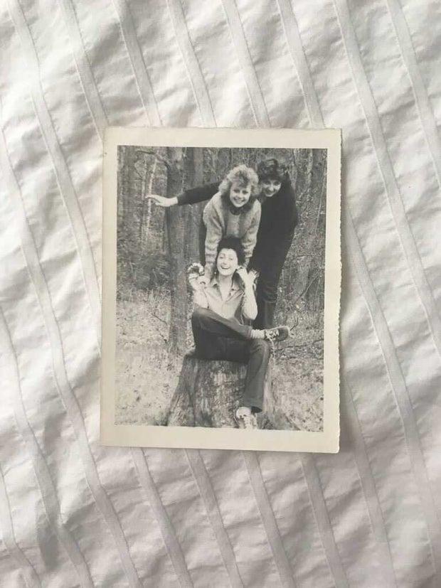 Three young women including Natalia Siyanova in Soviet Union