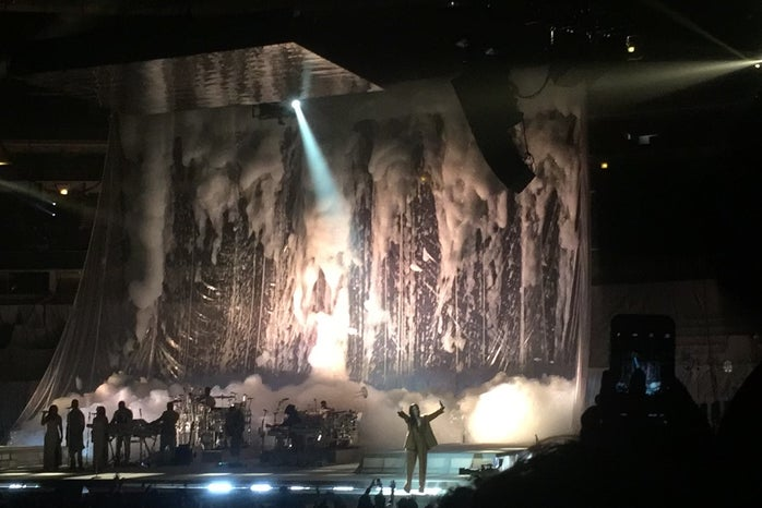 Rihanna performing at the ANTI World Tour at the United Center In Chicago, April 26th 2016