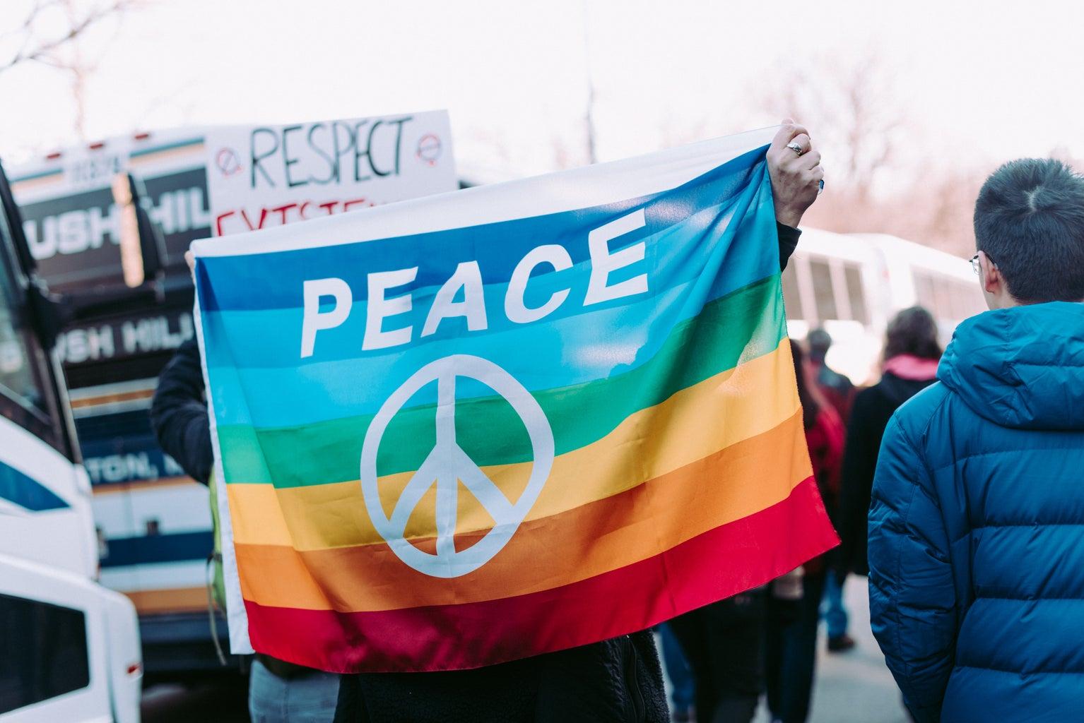 LGBTQ Pride Flag Peace