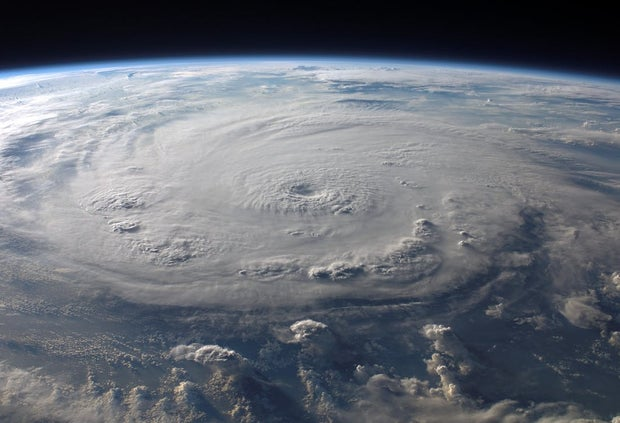 satellite image of a large hurricane