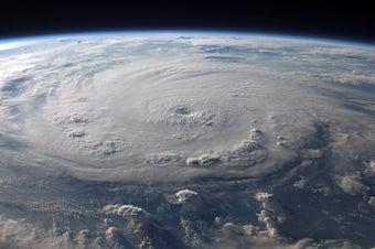 satellite image of a large hurricane